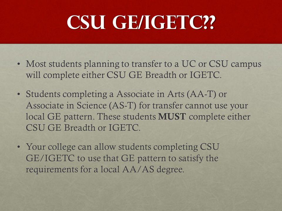 CSU GE/Igetc .
