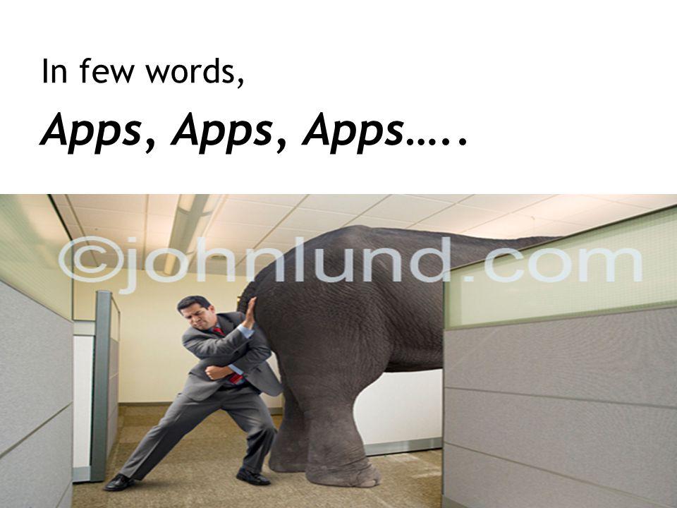 In few words, Apps, Apps, Apps….. 7
