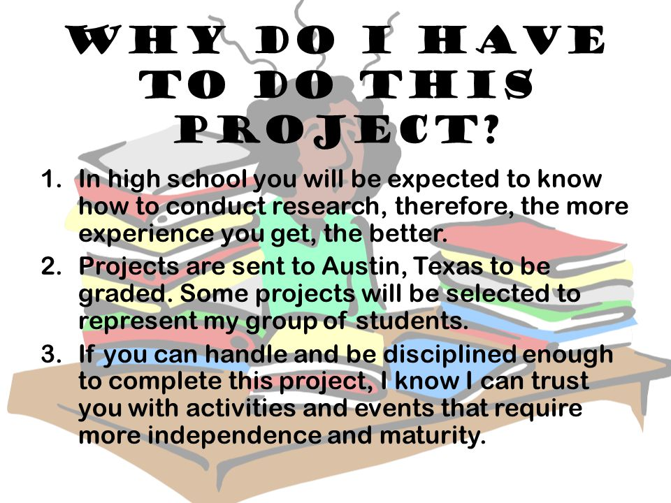 Who will I do my project on.I will have a list of people(s) you can choose from.