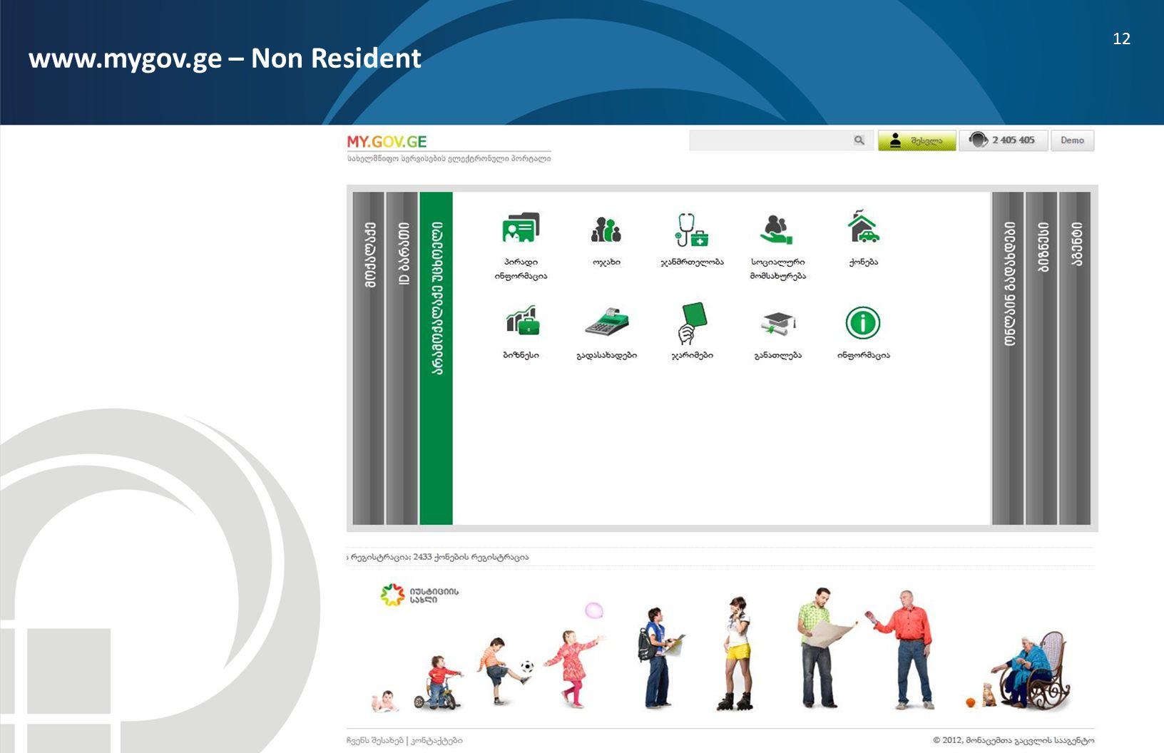 12 www.mygov.ge – Non Resident