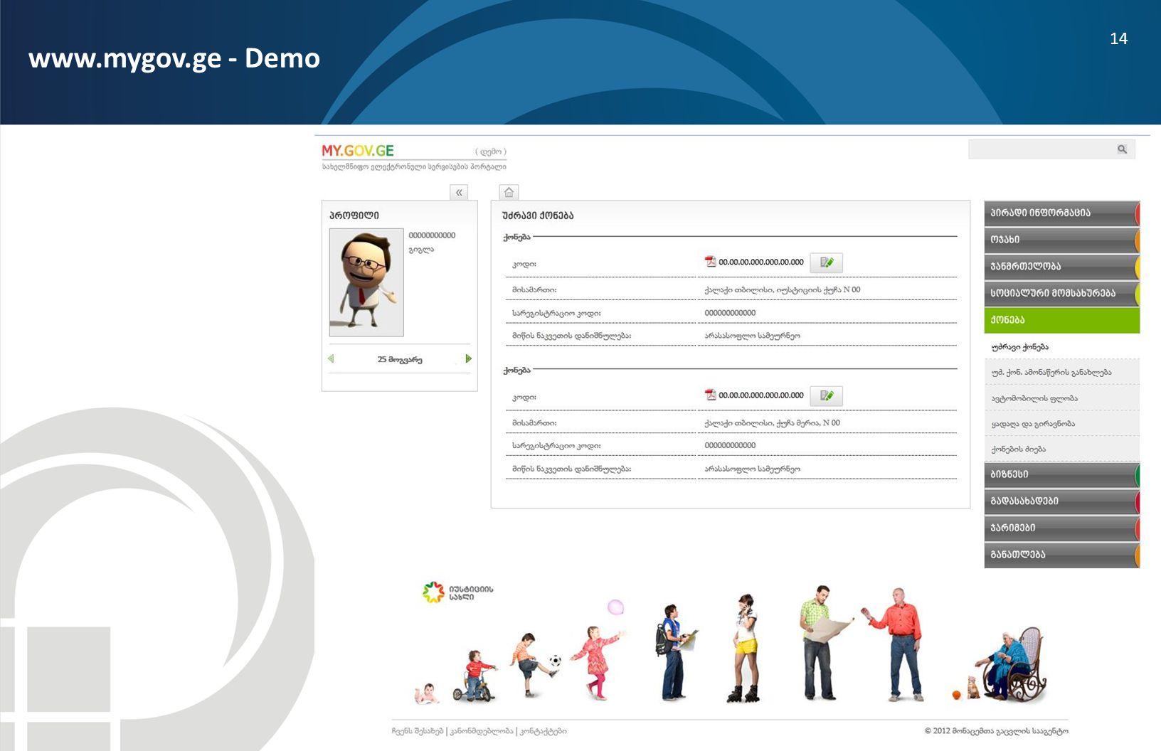 14 www.mygov.ge - Demo