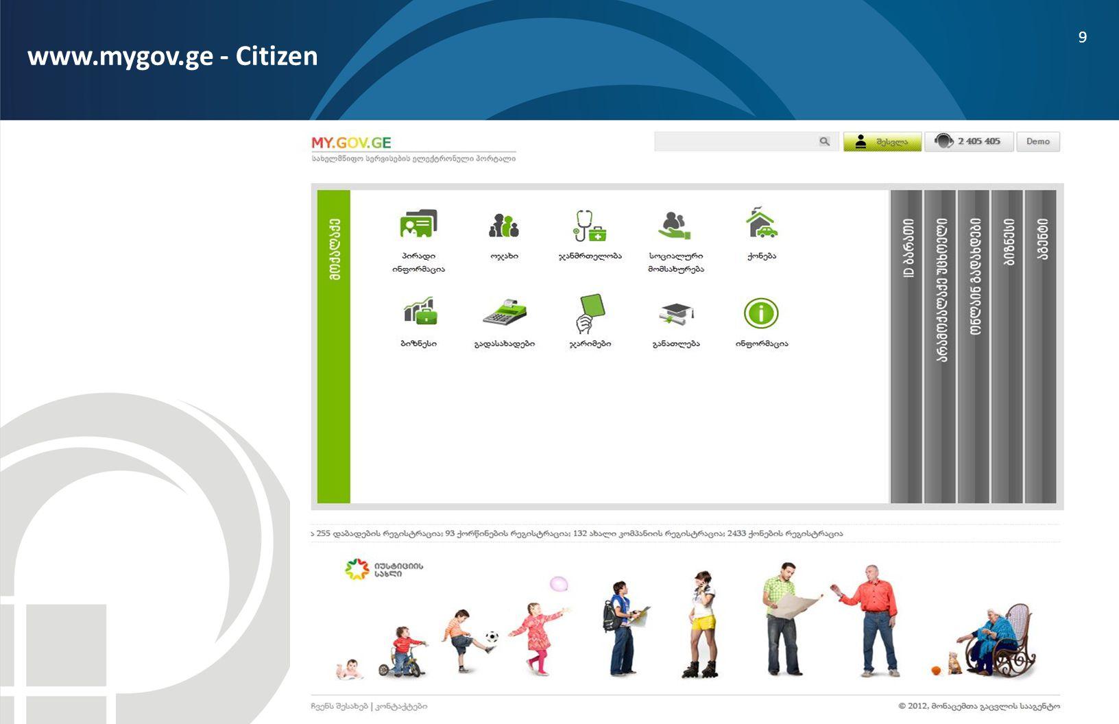 9 www.mygov.ge - Citizen