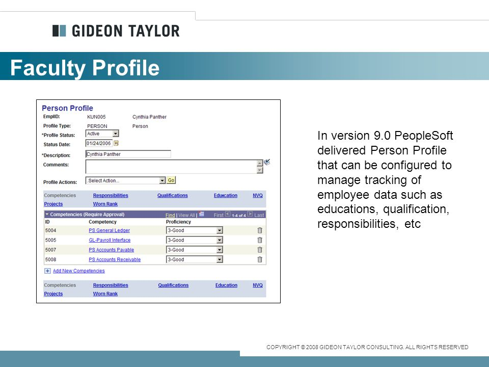 COPYRIGHT © 2008 GIDEON TAYLOR CONSULTING.