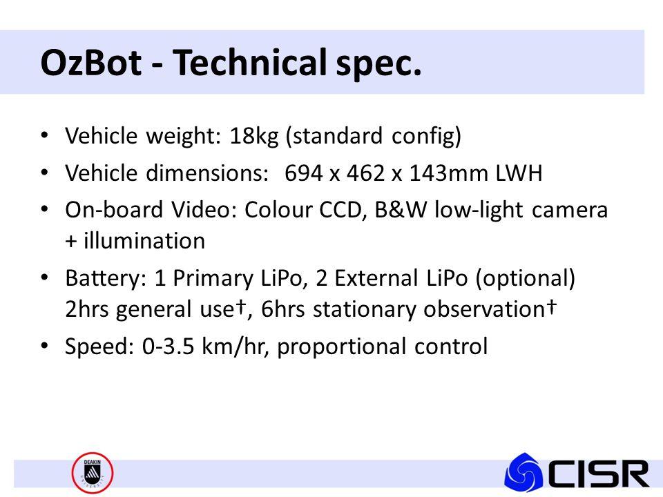 OzBot - Technical spec.