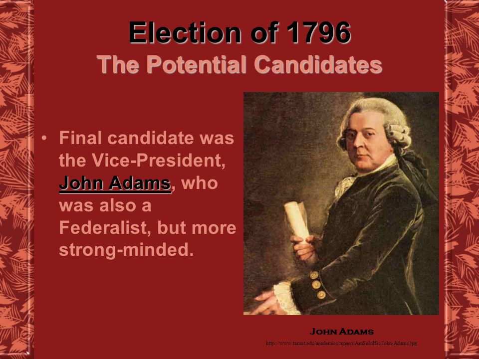 Election of 1796 Issues in the Young Nation aren t speaking to each otherFederalists and Democratic- Republicans aren t speaking to each other.
