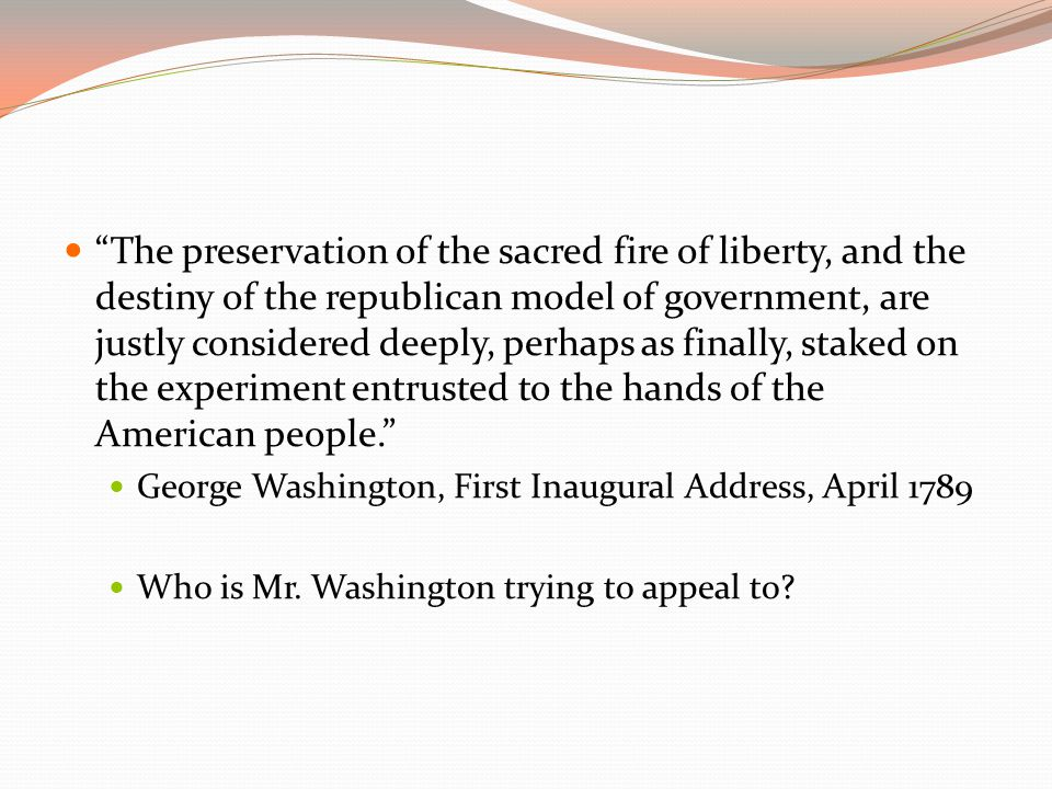Food for Thought Why was Jefferson's victory in the Election of 1800 considered a peaceful transfer of power .