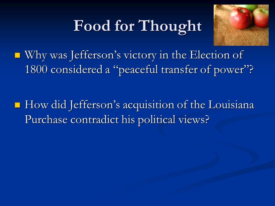 Thomas Jefferson's Presidency 1801-1809