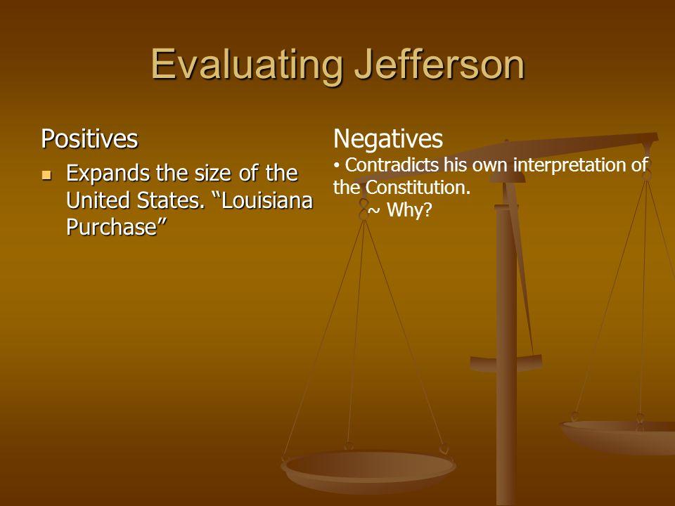 But wait a minute… JEFFERSON IS A STRICT CONSTRUCTIONIST.