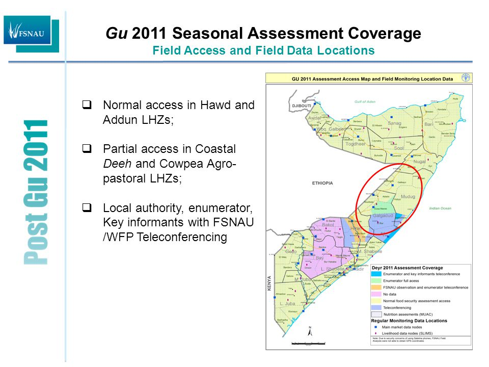  Normal to near normal rainfall performance in Coastal Deeh and Cowpea Belt and below normal rains in Hawd and Addun LHZs;  Improved rangeland conditions in Coastal Deeh and most parts in Cowpea Belt.