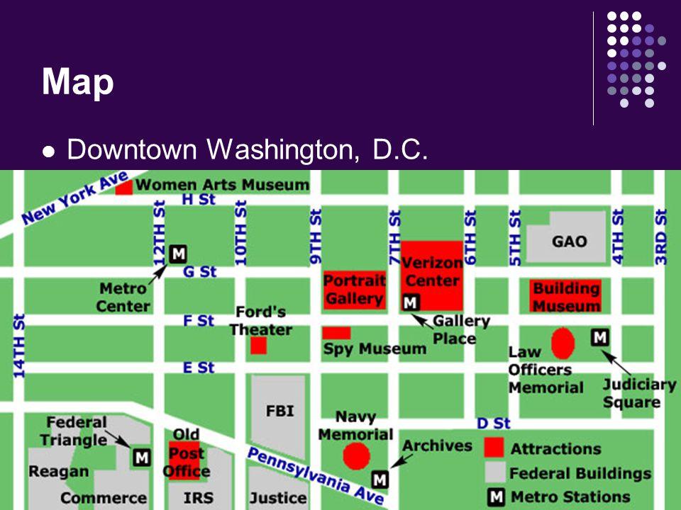 Map Downtown Washington, D.C.