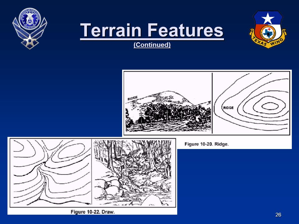 26 Terrain Features (Continued)