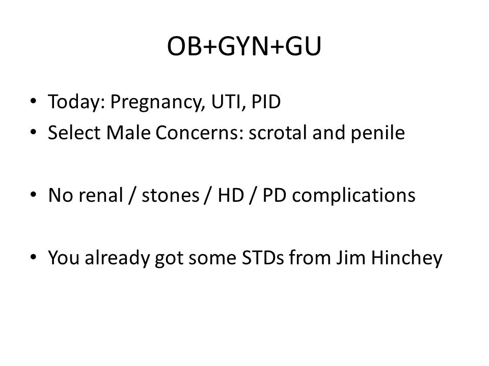 Tertiary syphilis Bites you when you're an old man, 25 years after primary infection CNS – Tabes dorsalis – Neuropathy – Meningitis Cardiovascular syphilis – aortic aneurysm Skin lesions: gummas Benzathine penicillin drug of choice (Long acting penacillin: LA by nurses).