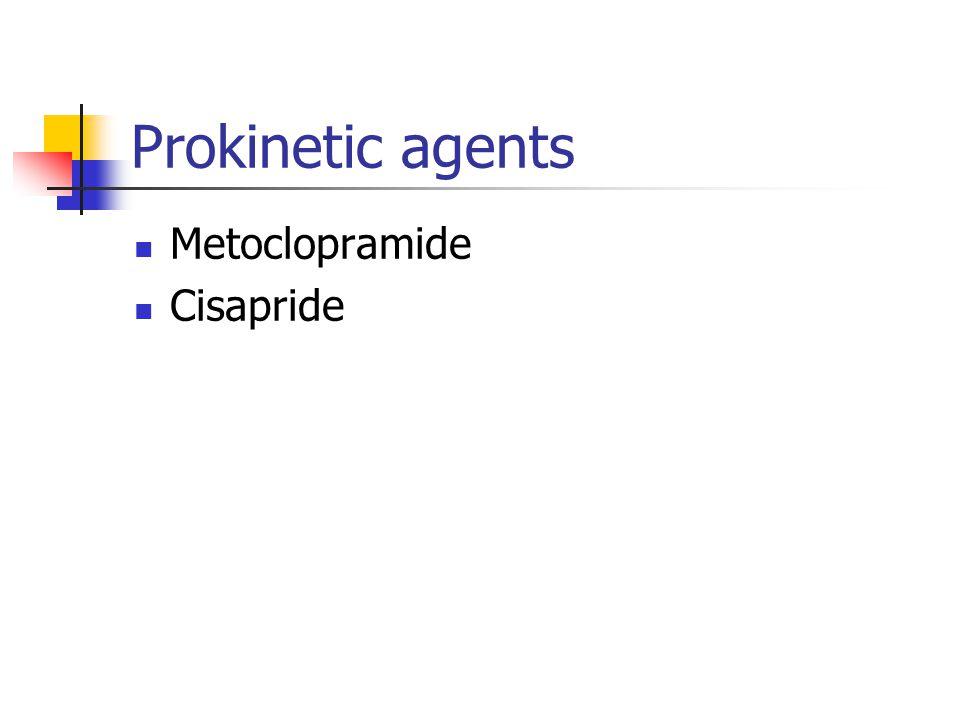 Prokinetic agents Metoclopramide Cisapride