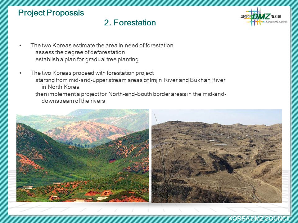 KOREA DMZ COUNCIL Project Proposals 2.