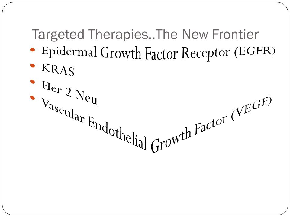 Targeted Therapies..The New Frontier