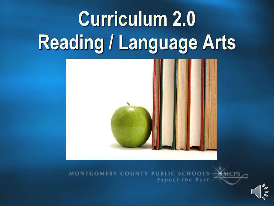 Curriculum 2.0 Reading / Language Arts