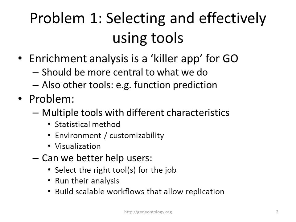 Problem 2: Evaluating improvements in GO How do we know how well we're doing.