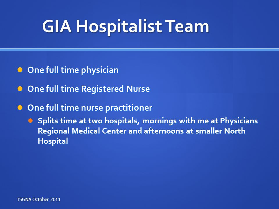 What type of procedures do I perform as a GI Hospitalist.