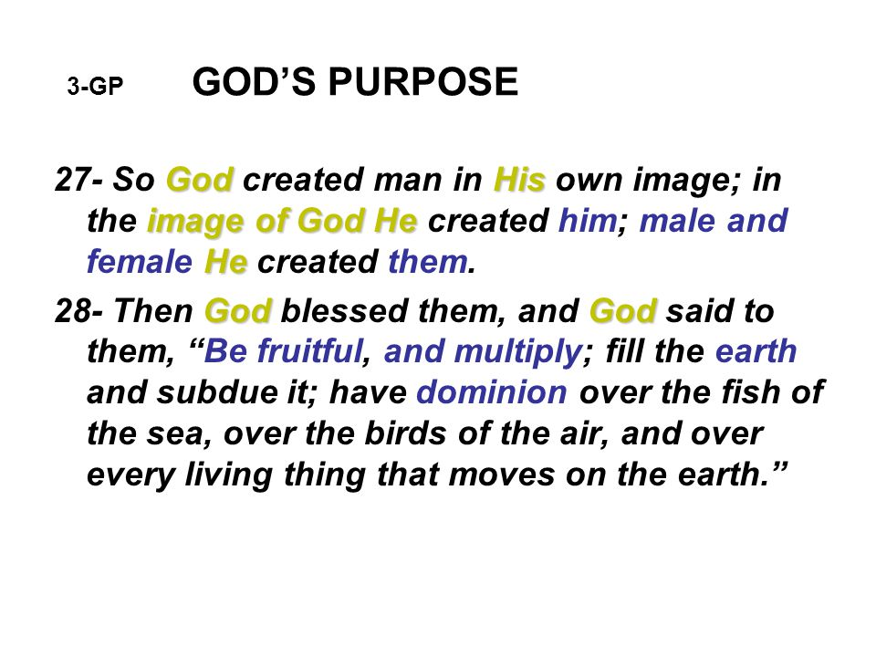 8-GP GOD'S PURPOSE When will the earth be cleansed by fire.