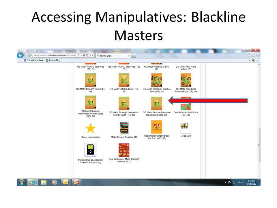 Accessing Manipulatives: Blackline Masters