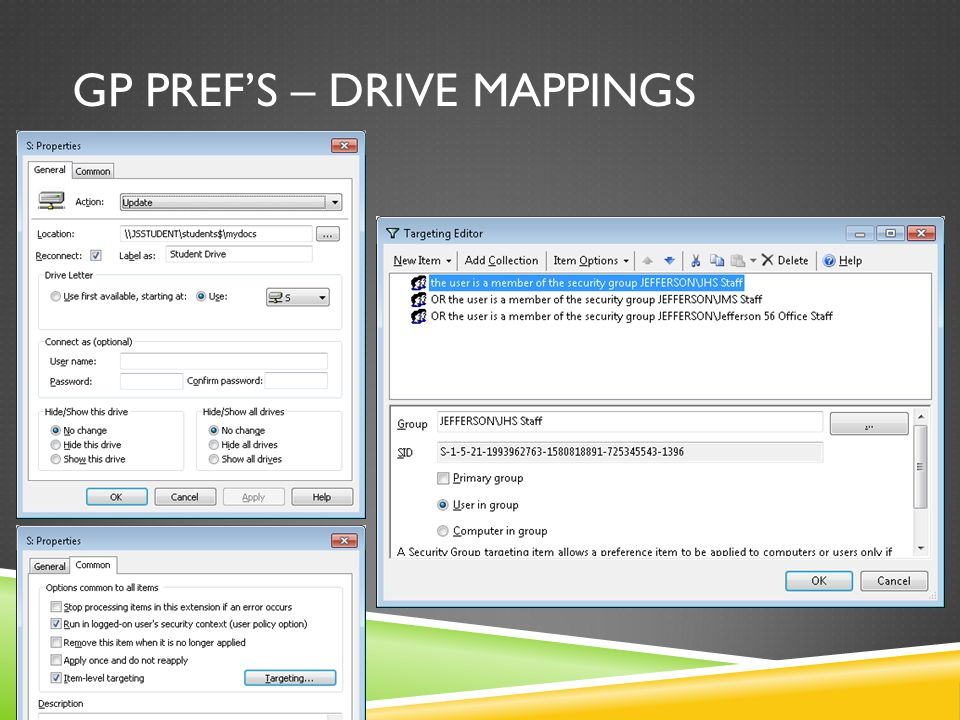 GP PREF'S – DRIVE MAPPINGS