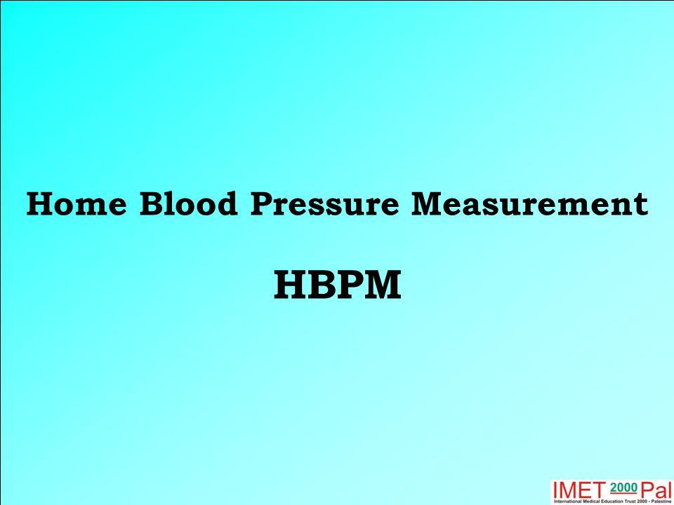 Home Blood Pressure Measurement HBPM