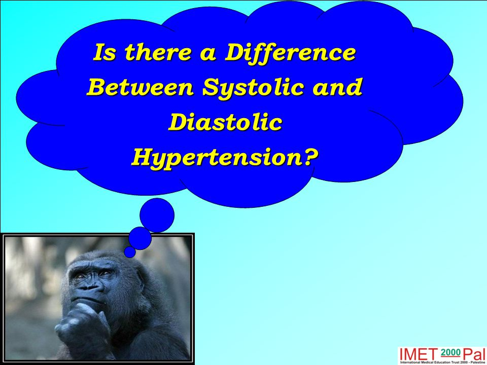 Is there a Difference Between Systolic and Diastolic Hypertension?
