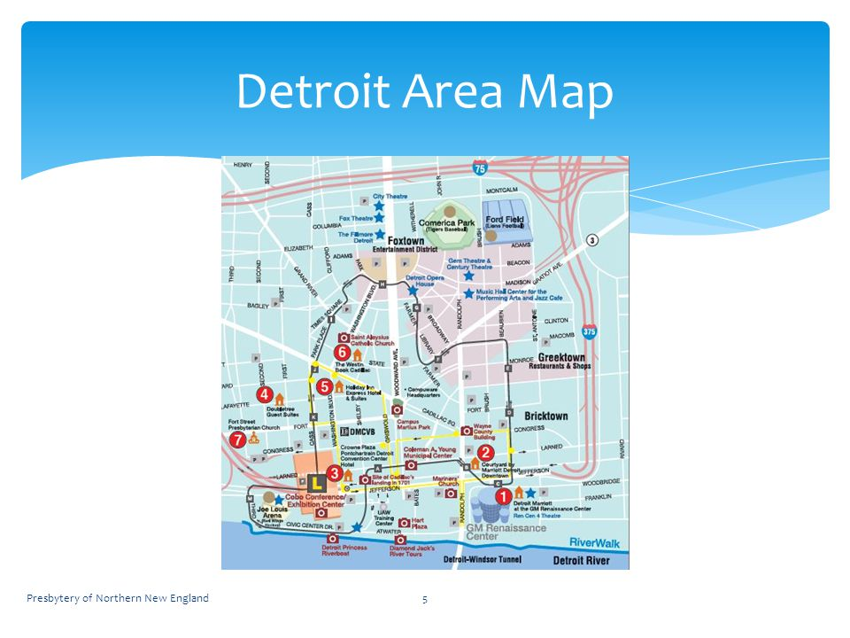 5 Detroit Area Map