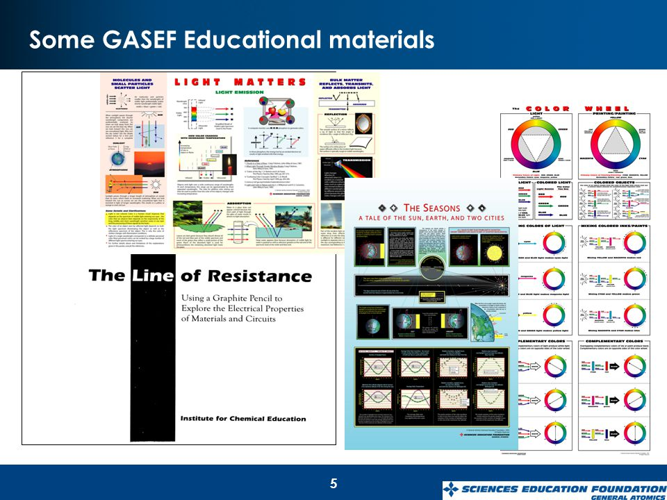Some GASEF Educational materials 5