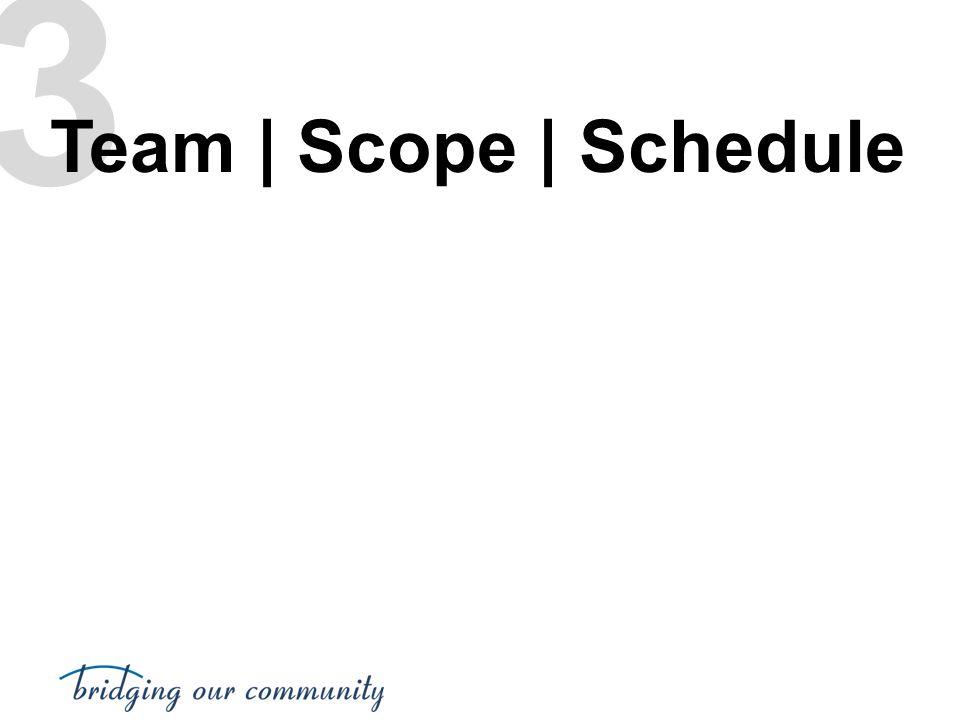 3 Team | Scope | Schedule