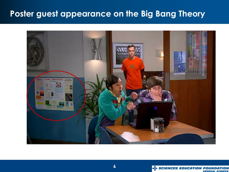 Poster guest appearance on the Big Bang Theory 6