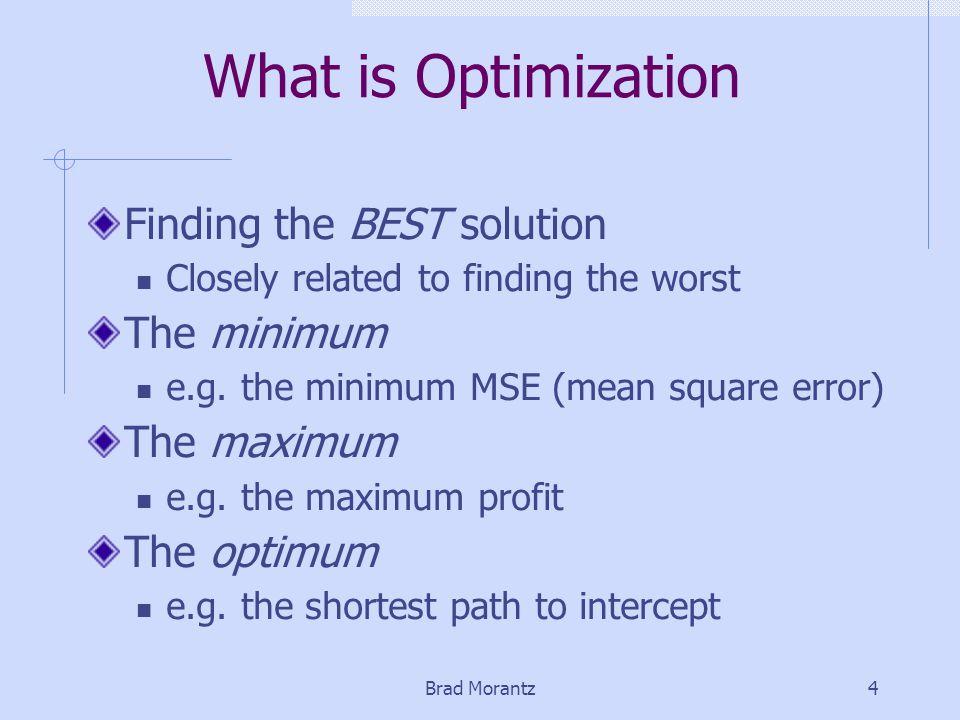 Brad Morantz5 Mathematically Where first derivative is Zero