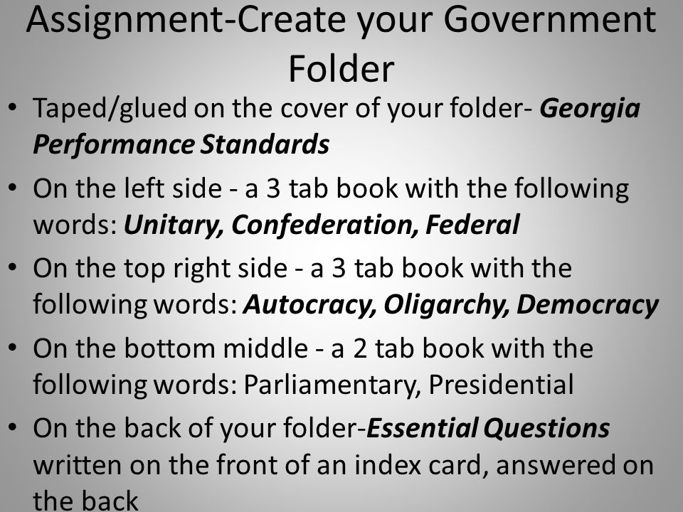 Oligarchy How Governments Determine Citizen Participation Definition-Government by a group that exercises control, especially for corrupt and selfish purposes.