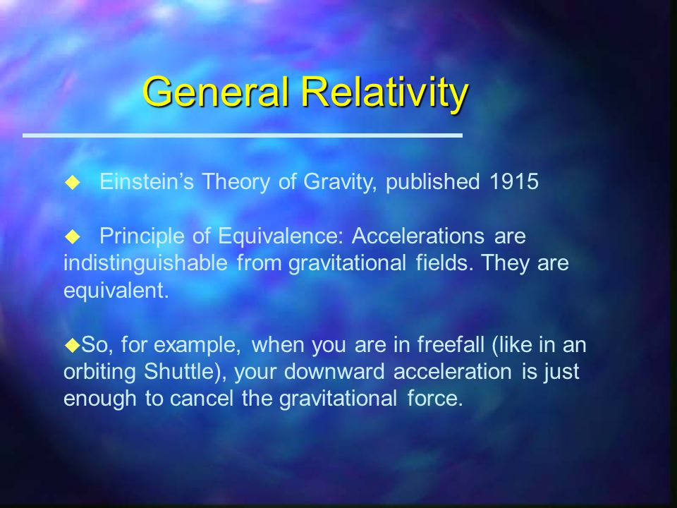 Universal Law of Gravitation u All objects in the Universe attract each other with a force that varies directly as the product of their masses and inv