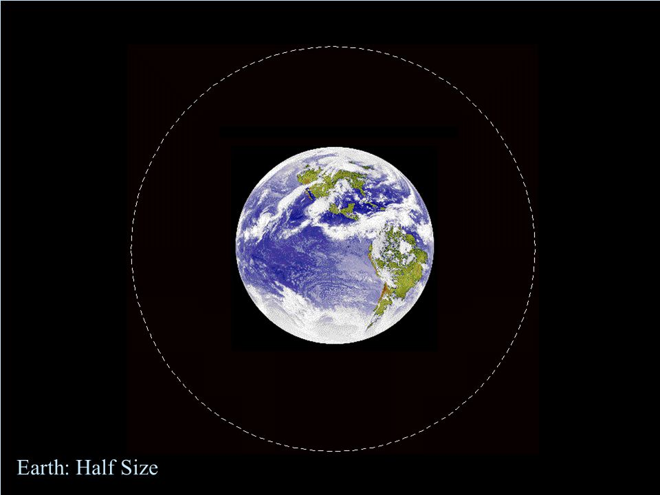 Earth: normal size Earth: Normal Size