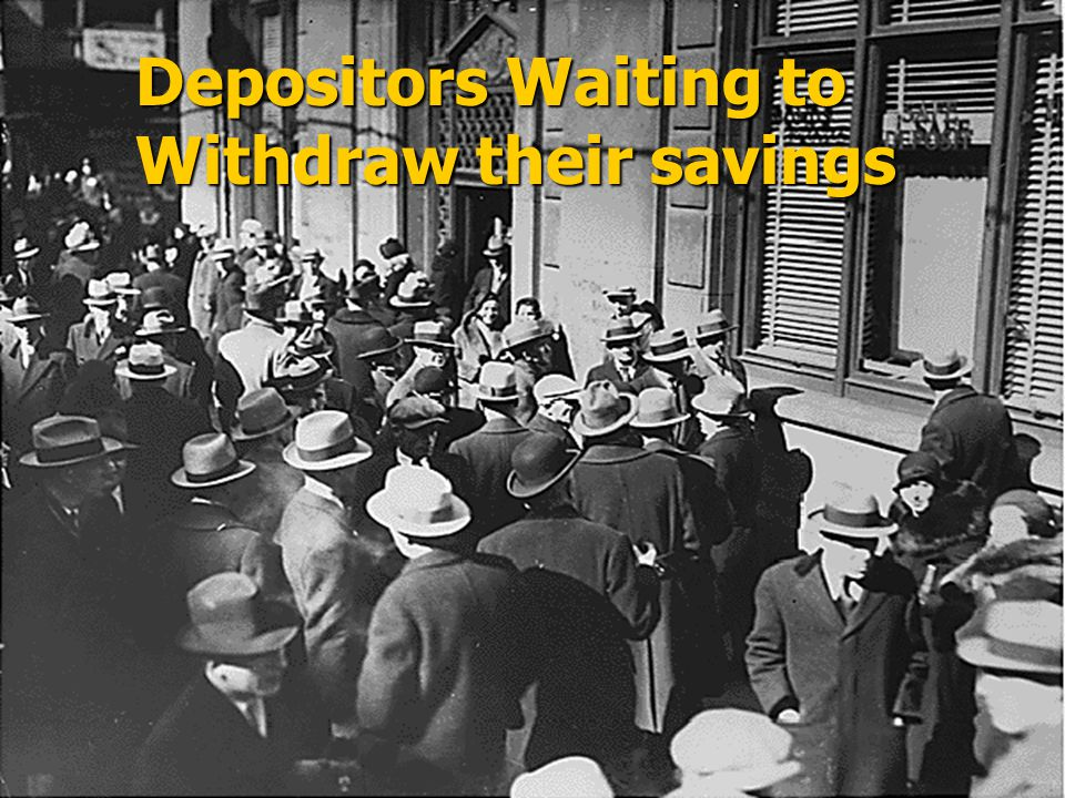 Depositors Waiting to Withdraw their savings