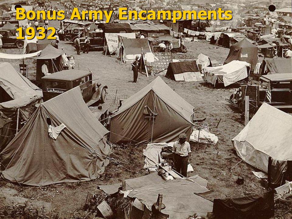 Bonus Army Encampments 1932