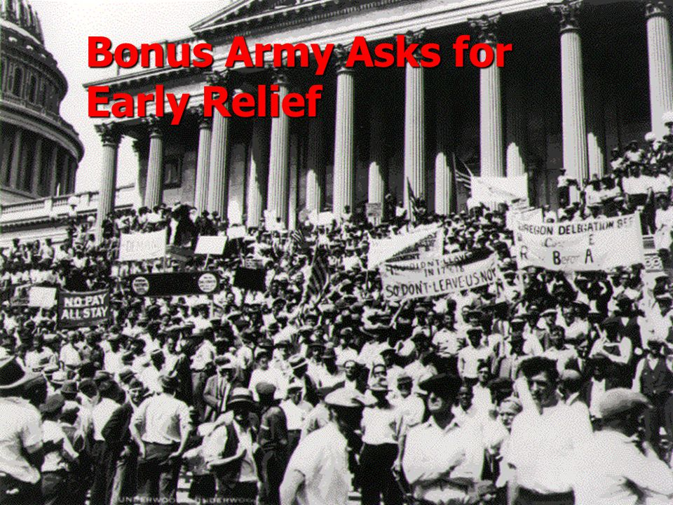 Bonus Army Asks for Early Relief