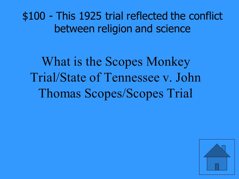 This 1925 trial reflected the conflict between religion and science