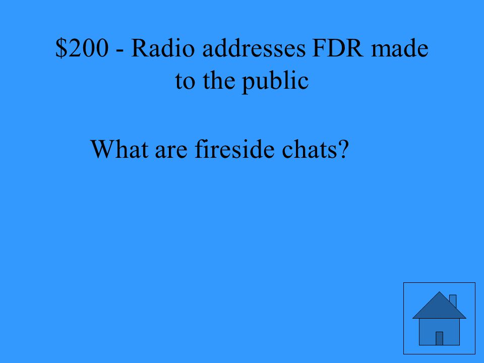 Radio addresses FDR made to the public