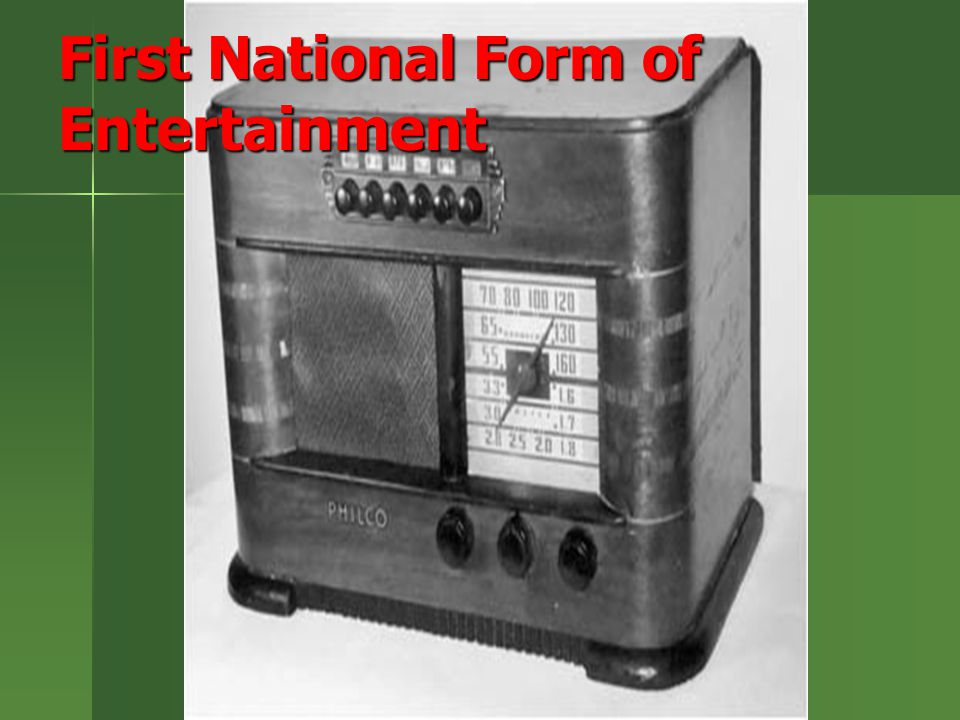 First National Form of Entertainment