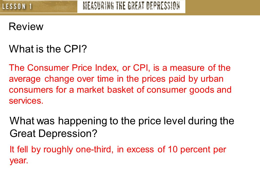 Review What is the CPI.