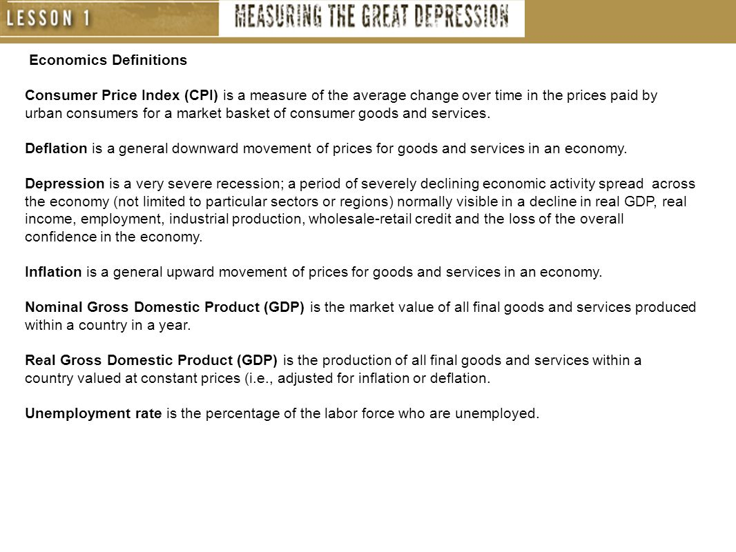 Economics Definitions Consumer Price Index (CPI) is a measure of the average change over time in the prices paid by urban consumers for a market basket of consumer goods and services.
