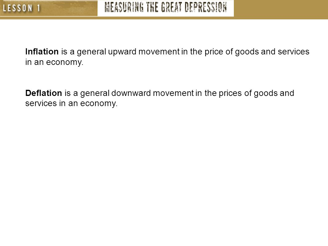 Inflation is a general upward movement in the price of goods and services in an economy.