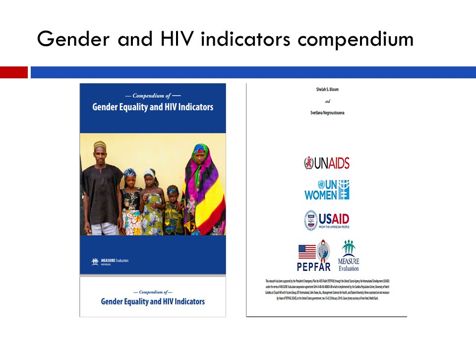 Gender and HIV indicators compendium