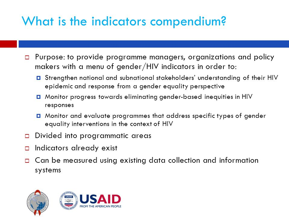 What is the indicators compendium.