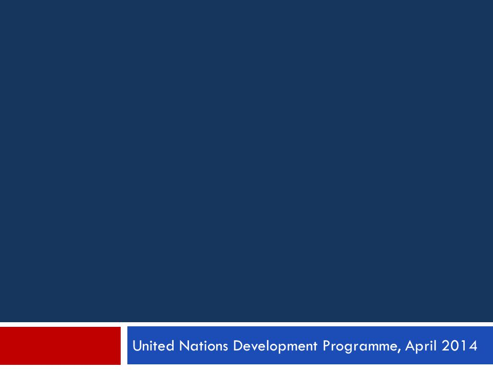 United Nations Development Programme, April 2014