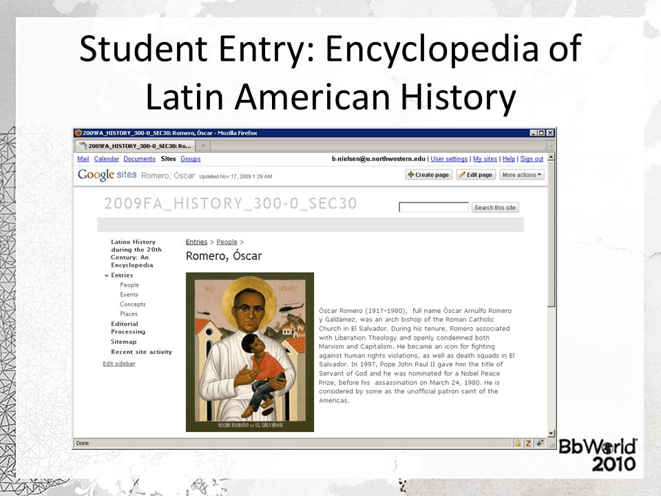 Student Entry: Encyclopedia of Latin American History
