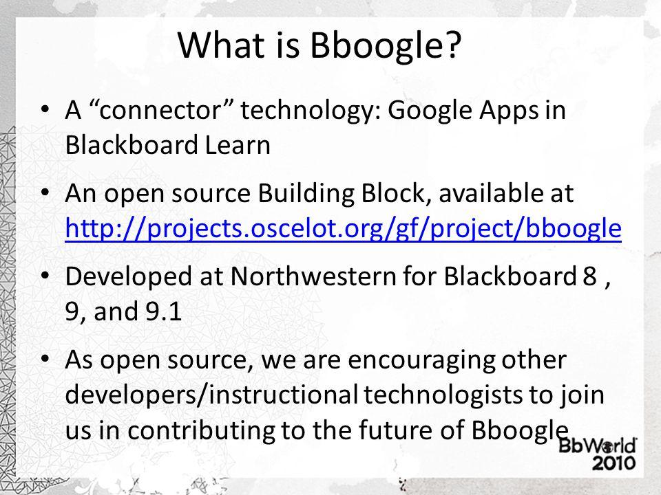 What Does Bboogle Offer? 1 2 3 Google Bookmarklet 4 Single SignOn 5