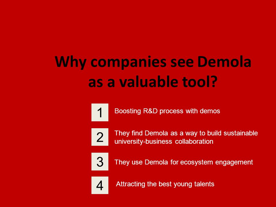 Why companies see Demola as a valuable tool.